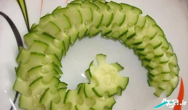 میوه آرایی خیار