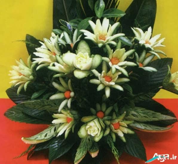 ساخت گل با خیار