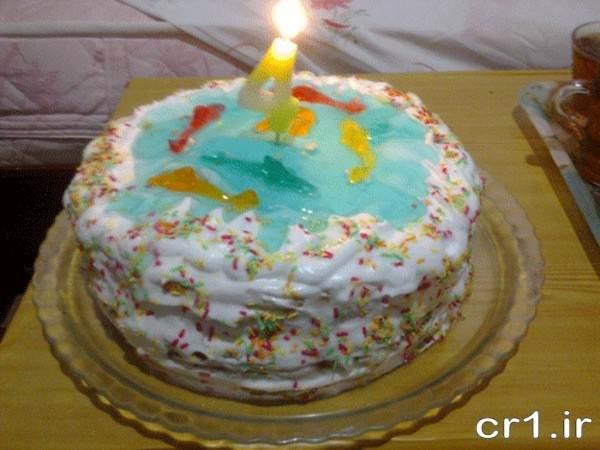 تزیین کیک با ژله