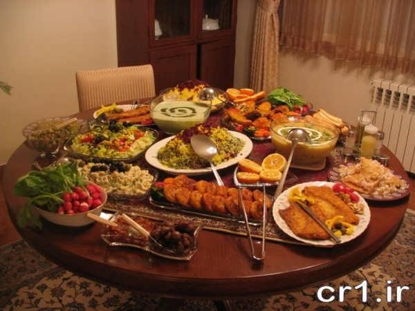 چیدمان میز شام جدید