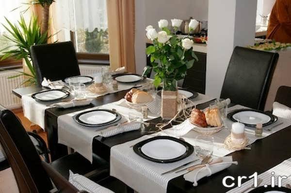 تزیین میز شام