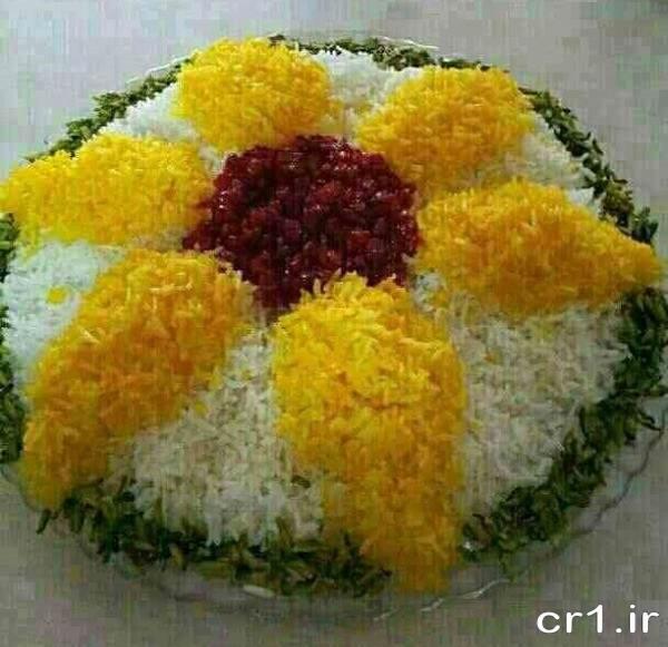 تزیین زیبای برنج