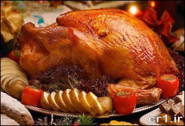 تزیین مرغ بریان