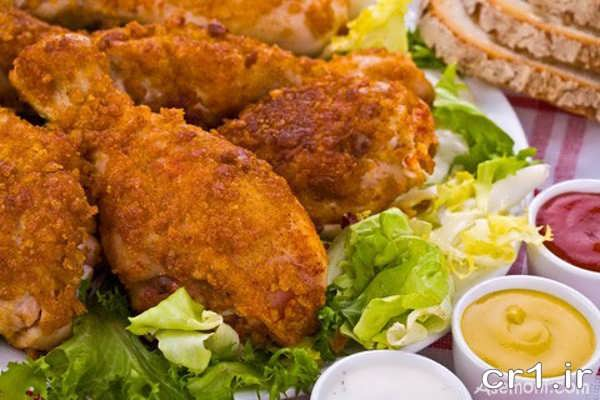 تزیین ران مرغ سوخاری