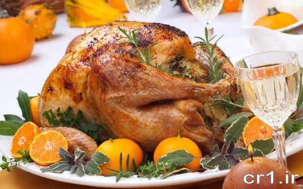 مرغ تزیین شده