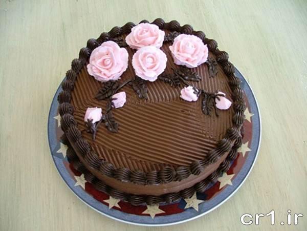 تزیین کیک با کاکائو