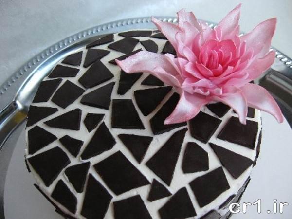 تزیین زیبای کیک خانگی