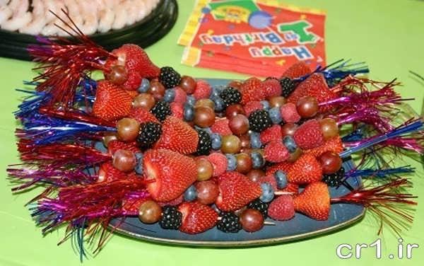 تزیین توت فرنگی