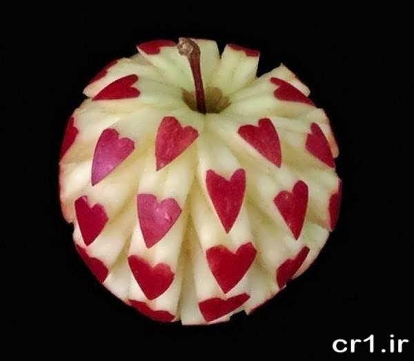 تزیین زیبای سیب