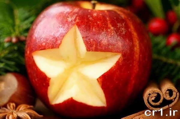 تزیین ساده سیب
