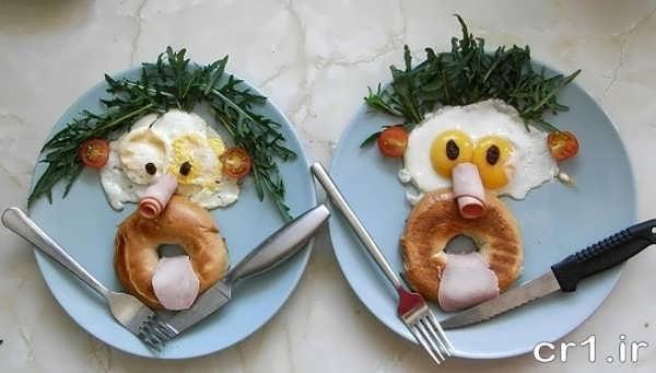 تزیین ساده صبحانه