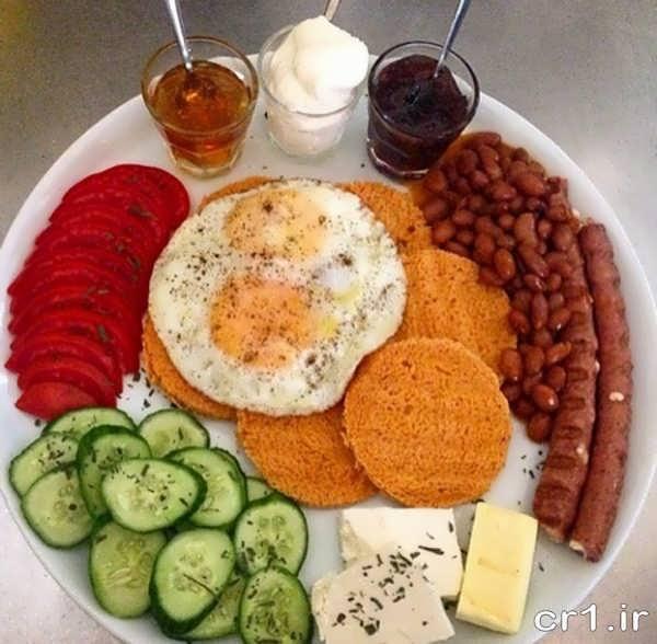 تزیین بشقاب صبحانه