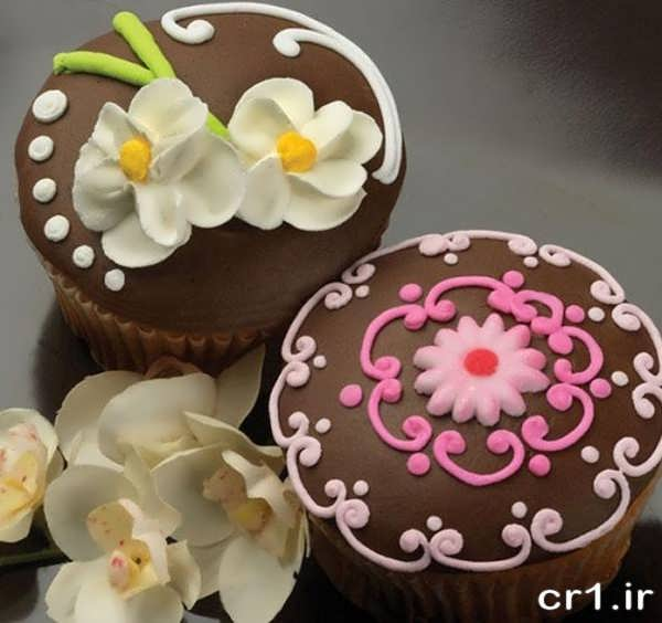 کاپ کیک تزیین شده جدید