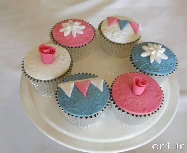 تزیین کیک فنجانی
