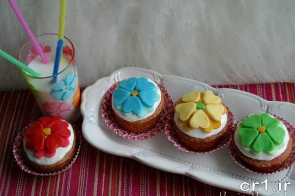 تزیین زیبای کاپ کیک