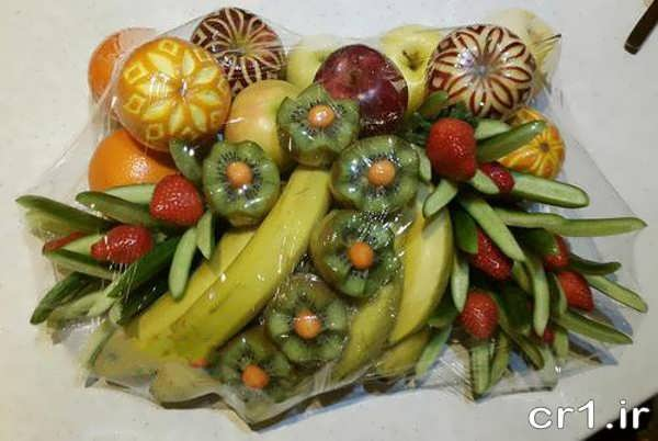 تزیین زیبای میوه