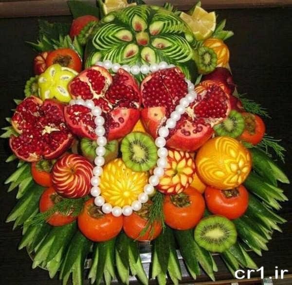 تزیین ظرف میوه زیبا