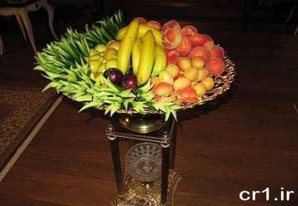 تزیین میوه جدید در ظرف