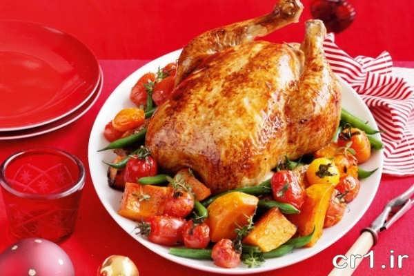 تزیین مرغ ساده