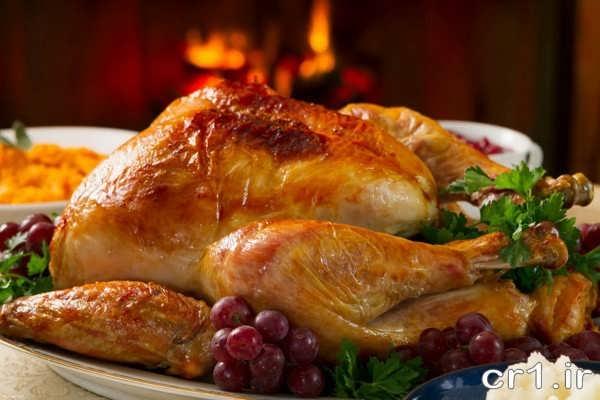 تزیین حدید مرغ شکم پر
