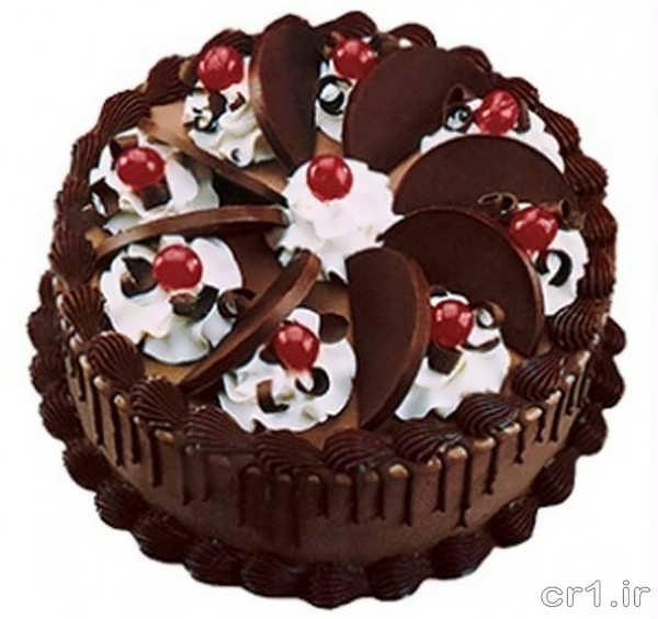 تزیین کیک شکلاتی برای جشن تولد