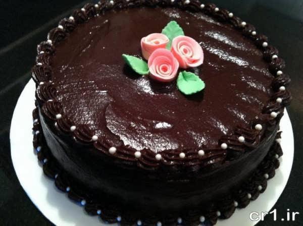 تزیین ساه کیک شکلاتی خانگی