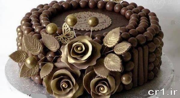 تزیین جدید کیک شکلاتی در منزل