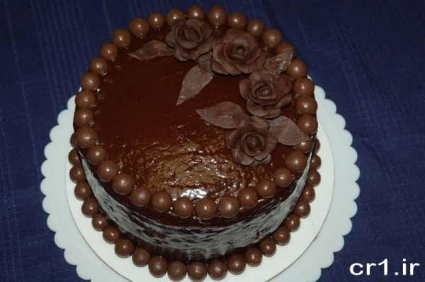 تزیین جدید کیک شکلاتی خانگی
