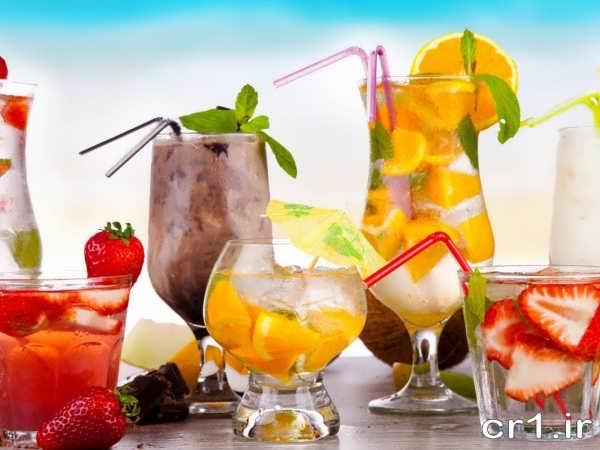 تزیین لیوان شربت برای مهمانی