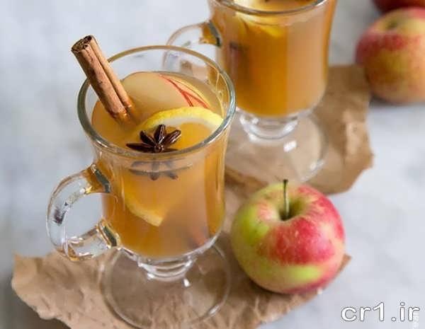 تزیین لیوان نوشیدنی با میوه