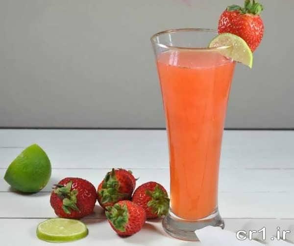 تزیین لیوان آب پرتقال