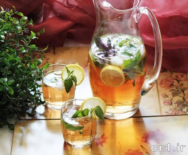 تزیین پارچ و لیوان شربت