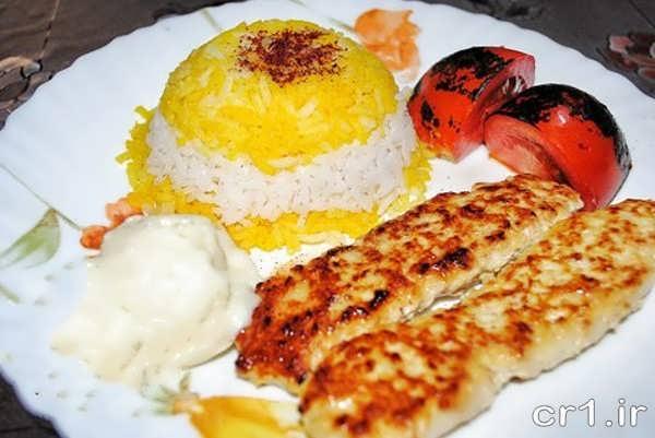 تزیین غذای جوجه کباب زیبا و شیک