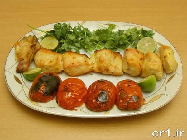 تزیین ساده جوجه کباب یا سبزیجات