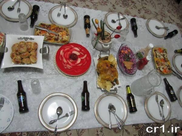 تزیین سفره شام ایرانی