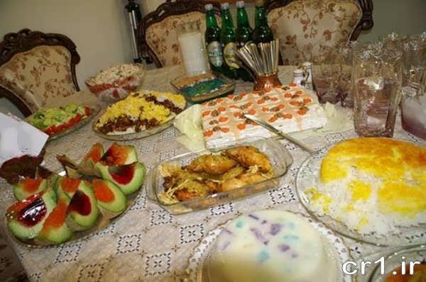 تزیین سفره شام برای مهمانی