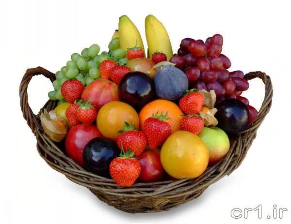 تزیین سبد میوه برای پذیرایی