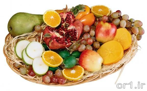 تزیین زیبای سبد میوه برای عروس