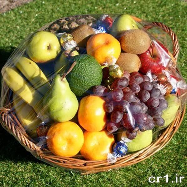 تزیین ساده سبد میوه