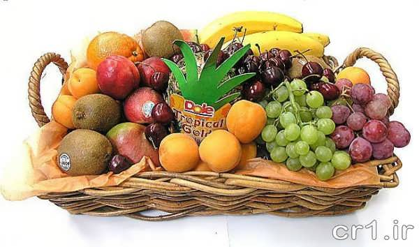 تزیین زیبای سبد میوه برای پذیرایی