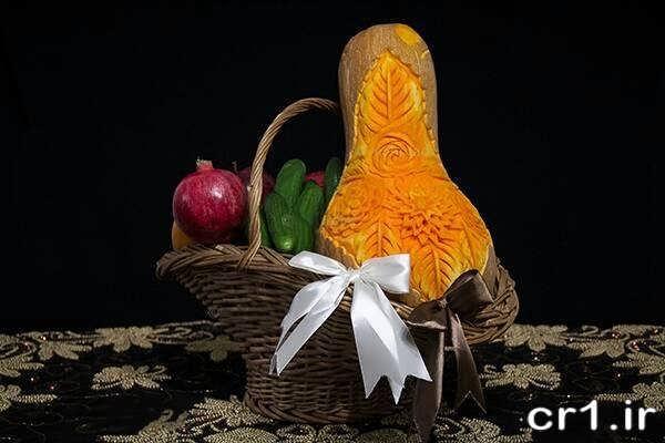 میوه آرایی در سبد برای شب یلدا