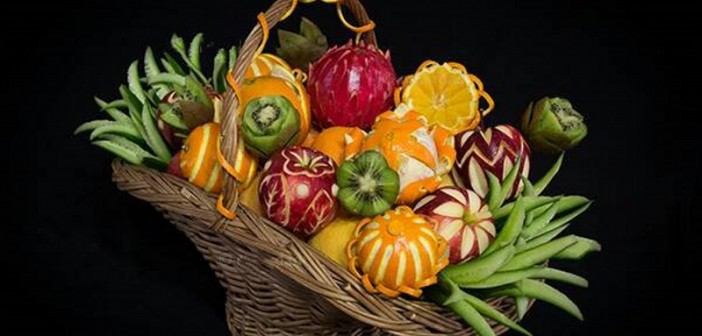 تزیین سبد میوه جدید و زیبا