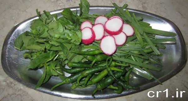 تزیین زیبای سبزی خوردن