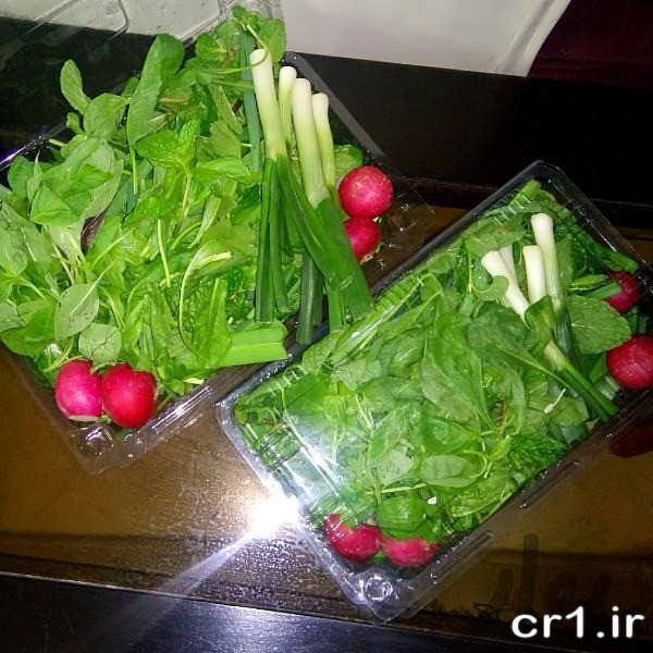 تزیین سبزی جدید