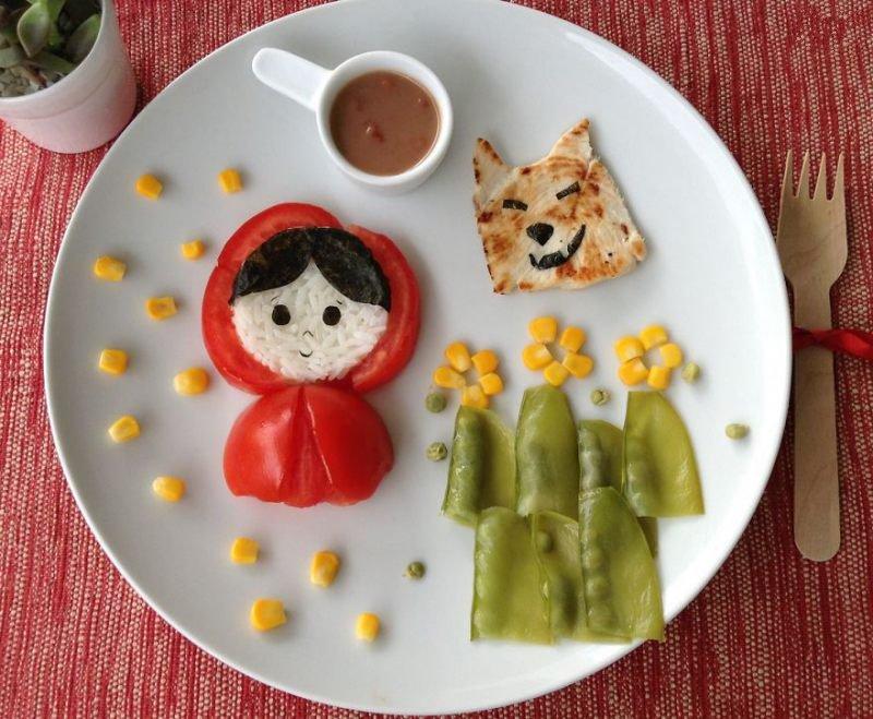 تزیین غذای کودک برای تولد