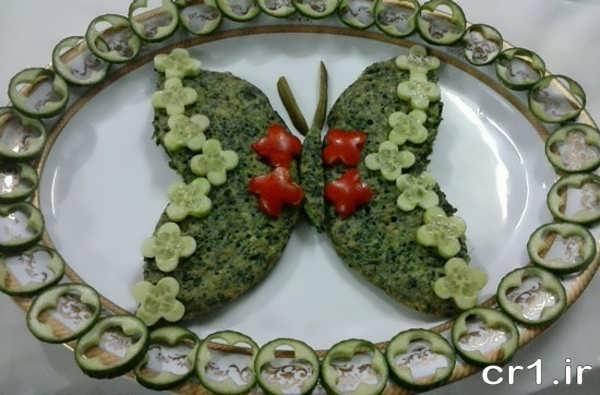 تزیین زیبای کوکو به شکل پروانه