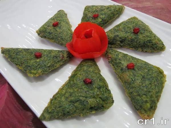تزیین ساده کوکو سبزی