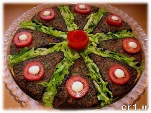 کوکو سبزی مجلسی زیبا و شیک