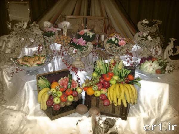 مدل میوه آرایی در صندوق چوبی