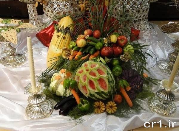 تزیین میوه جدید برای سفره عقد